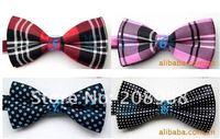 мужчины в галстук-бабочка, полиэстер галстук-бабочка галстук-бабочка шотландка, смешанный типов для выбирают 100 шт./лот # 0653