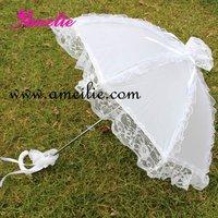 50 шт./лот белое кружево зонт зонтик