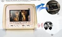 двойной пол 7 дюймов монитор автомобиля с DVD-плеер MOL ич 32 бит игры USB памяти SD FM радио 2 шт. ич-наушники бесплатная доставка розничная/пара
