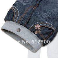 оптовая продажа бесплатная доставка бренд толщиной зима теплая кашемир штаны мальчиков джинсы дети джинсы