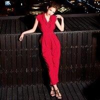 женщин кап-рукава стильный комбинезоны ползунки общая длинные брюки 2 цветов