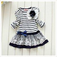 девочки принцесса платье, размер : 100 - 110 - 120 - 130 - 140, цвет : синий и коричневый, возраст : для 3 ~ 7 лет