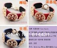 мода винтаж личности панк хиппи многоцветный кожаный браслет ручной кольцо браслет браслеты позолоченный женщины подарок