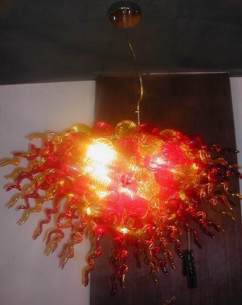 BGC2073-Glass art chandelier lighting for big house decoration