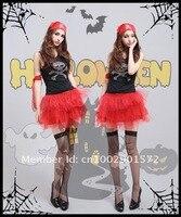 новое костюм на хэллоуин. сексуальное пирата для женщин девушки! 4 шт. маскарадный костюм! бесплатная доставка