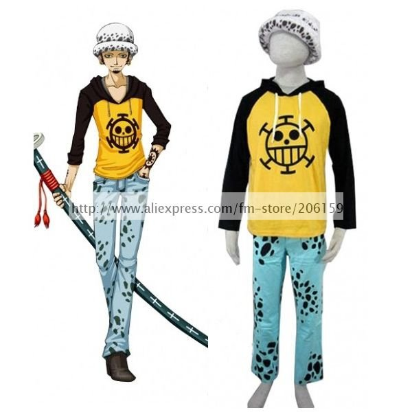 Anime One Piece Trafalgar Law Suit Cosplay Costume With Hat Men Cosplay  Complete Sets Hoodies Sweatshirts For Halloween Clothing-in Anime Costumes  from ...