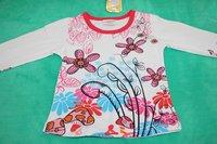 новый стиль мода футболка мусора девушки с длинным рукавом дети осень хлопок Rico top6size / Лот 1-6лет