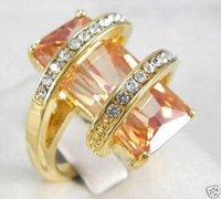 китайский женские украшения танзанит и топаз кольцо 6 - 9