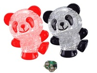 свет панда зал, зал 3д кристалл украшения панда зале на IQ хобби игрушка подарок, бесплатная доставка p019