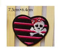 черный / розовый форма сердца с возгласами железо на место своими руками шитьё rams
