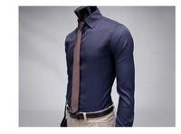 бесплатная доставка новый с длинным рукавом Los мужская рубашка бизнес-рубашки, бренд свободного покроя тонкий подходят стиль платье рубашка. м L хl ххl
