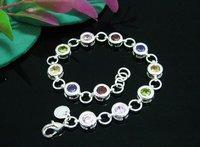 evyssl кристалл серебро браслеты ювелирные изделия браслеты