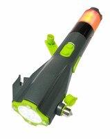 8 в 1 многофункциональный безопасности в молоток побег молоток побег инструмент резак динамо флэш-факел для аварийного оповещения