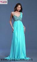 0394-1hs новый зеленый шифон из бисера итальянские дизайн вечернее платье