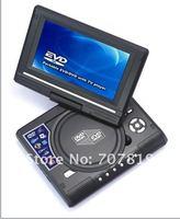 хиты продавать 7.8 дюймов портативный ДВД плеер с поворотным экраном и телевизор + игры + USB кабель + кард-ридер + формата DivX + Формат MPEG