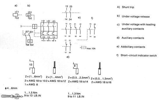 503153680_204 aliexpress com buy 3vu13 dz208 25 motor protective circuit shunt breaker wiring diagram at webbmarketing.co