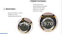 Конуса 6 в 1 многофункциональный цифровой высотомер / термометр / барометр / comapss / прогноз погоды / время - черный бесплатная доставка