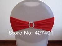 красный лайкра группа с овальной пряжкой для свадебные украшения