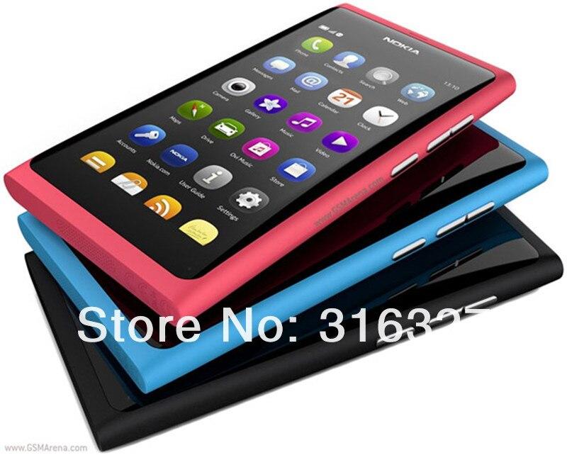 Refurbished Nokia N9 8MP MeeGo OS 1GB RAM 16GB ROM Wi-Fi FM radio Touchscreen cell phone refurbished red 3
