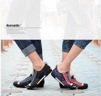 новый корейских джинсовые обувь в стиле холст мужчин женщин улыбка любителей высокое качество мода свободного покроя кроссовки