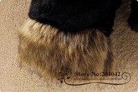 бесплатная доставка новых мужчин зима мех пальто обвинение в шеи при шляпа / мода женская por шерстью в розницу куртка / 2 / 121224 - 2