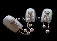 100 шт. 3D в форме сердца мотыльков бассейна SPA manicure салон Stress совет дизайн украшения