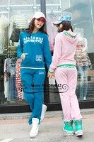 новый бесплатная доставка весна мода женщин Doug костюм / леди спортивный костюм / поговорить с Заголовок с брюки / 6 цветов оптовая продажа / 121226 - 11 с