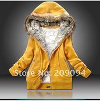 мех стоит krusty стоит свитер, зима женщины в вкус женщины куртка пальто верхней одежды. размер : М, L, хl