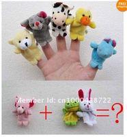 10 шт. палец куклы ткани шерсть игрушка подарок ребенку истории помощник пальцем кукла