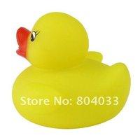 12 шт. / много младенцы комплекты желтый утка ванная ванна плавающий игрушка подарок игрушка, много меняющий цвет мигающий лёгкие лампа игрушки