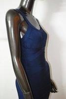 elastic Rico j017 синий повязку платье без рукавов провода длиной макси платье
