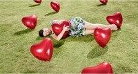 """10 шт. 36 """" дюймовый форме сердца гелиевые шары на день рождения свадьба ну вечеринку украшения надувные игрушки подарки для валентина"""