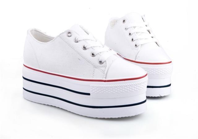 zapatillas converse blancas plataforma