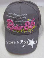 бесплатная доставка хлопок вышивка бейсболка для мужчин / женщин / подростками