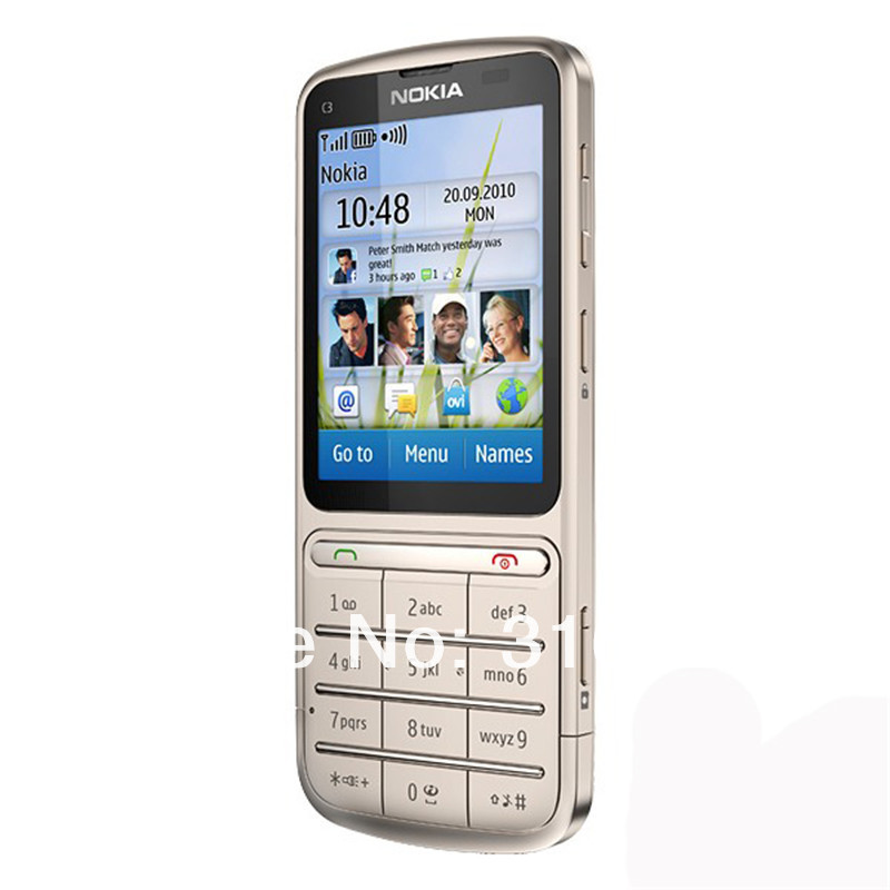 Refurbished phone Nokia C3-01 Touch and type 5MP Wi-Fi FM radio Touchscreen cell phone grey 11