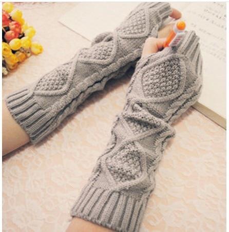 Winterargyle patrón de punto de lana jacquard guantes de lino medio ...