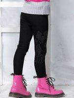 бесплатная доставка 2011 последний тип гетры / клеш / узкие брюки / ноги брюки / дизайн микки / ковбой черный цвет