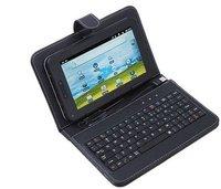 бесплатная доставка кожаный чехол с клавиатурой для 8 дюймов планшет пк