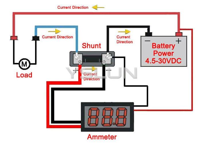 0 56 green led digital 0 50a car dc current testing electric rh aliexpress com vdo ammeter shunt wiring diagram dc ammeter shunt wiring diagram