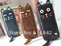 корейский канцелярские милый комикс кот пенал полиуретан пенал / коробка