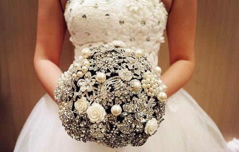 Luxus schmuck   Freies Verschiffen! Neue Luxus Schmuck Hochzeit Bouquet/High end ...