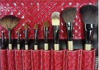 megaga 16 шт. профессиональный косметические кисти кисти+для+макияжа с кожаный чехол