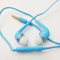 стерео с микрофоном 3, 5 мм для samsung синий