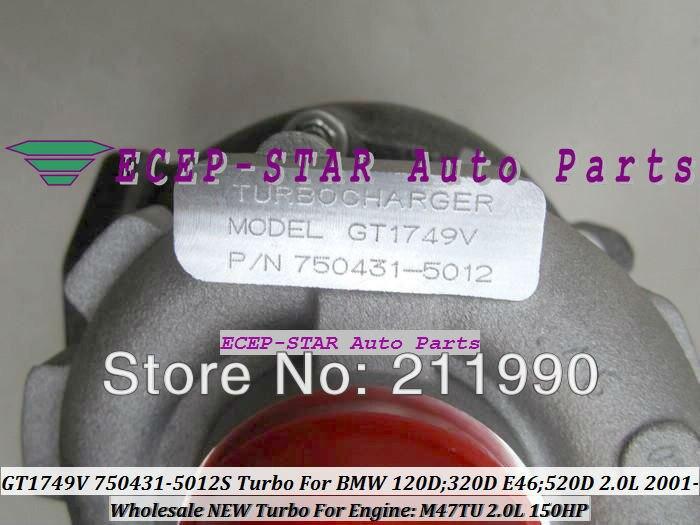 GT1749V 750431-5012S 750431-5009S 750431 Turbo Turbine Turbocharger For BMW 120D 320D E46 520D 2.0L 2001- M47TU 150HP (1)