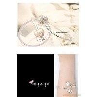 бесплатная доставка 028 - 1 оптовая продажа двойной сердцем, полным из кристалл браслеты подарок для девочек