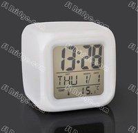 бесплатная доставка светящийся из светодиодов изменение цвета цифровой часы высокое качество e12894sl