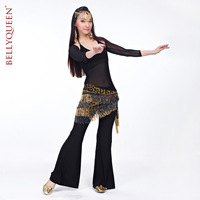 египет пресс танец ремень, пресс танец бусины кисточки шифон материал шарф, цвет леопардовый, размер