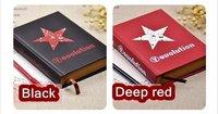 бесплатная доставка / оптовая продажа / мода красный и черный звезда пост страница Карачи тетрадь / дневник / блокнот / bum книга