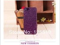 бесплатная доставка мода роскошные в 3D шику полный кристалл алмазы стразами жесткий телефон оболочки чехол для iPhone 4 и 4S