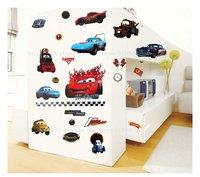 бесплатная доставка, наклейки винил мультфильм, студии Pixar автомобилей, 3-го поколения стены наклейки, 50*70 см, вкусный и высокое качество декор комнаты